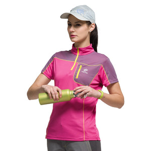 New Summer Out Door Sports Hiking T-shirt Women Breathable  Quick-drying Women's Sportswear Camping Hiking T shirt ,TS6402