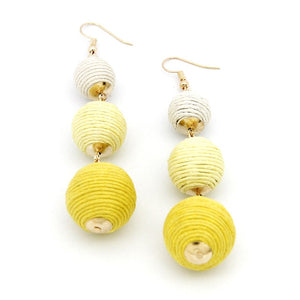 Legenstar Thread Ball Dangle Earrings for Women Pom Pom Drop Earrings