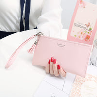 CITY LIGHT New Women Wallet Long Fashion Zipper Tassel Clutch Hand bag Purse Female  Mobile phone bag Lady  Carteira Feminina