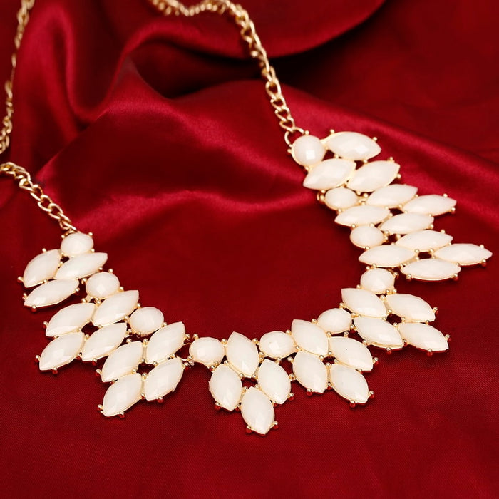 Women Necklace Statement Gold Color Chain Necklaces & Pendants Colorful Beads