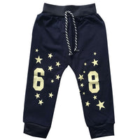 2016 new autumn baby pants cotton Sports figures baby pants 1 piece  0-2 year sport pants baby boy/girls pants