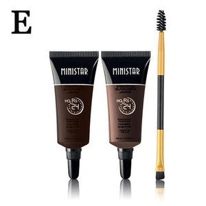 Natural Easy To Wear Brown Waterproof Tint Eyebrow Henna With Mascara Eyebrows Paint Brush Set Beauty