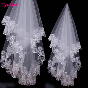 Wedding Accessories Lace Edge Bridal Veils One Layer Bride Veil 2019