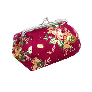 Naivety Hasp Coin Purse New Women Retro Small Wallet Lady Vintage Flower