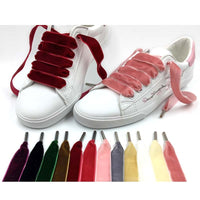 SENTCHARM New Arrival Velvet Solid Shoelaces For Casual Shoes Boots Fashion