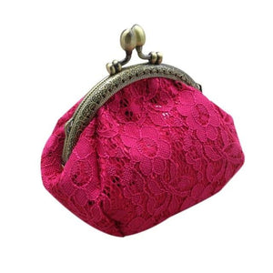 Naivety Coin Purse drop shipping New Gift Women Mini Luxury Lace Hasp