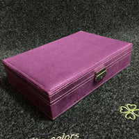 New Type Flannel Jewelry Box Korean Style Ring Earrings Storage Box Fashion Lovely Princess Jewelry Box   Birthday Gift For Girl