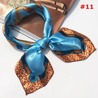 Soft Fashion Silk Square Scarf Scarves Women's tie Bandanas Head Wrap Elegant Head Neck Shawl Silk Scarf Ladies Accessories