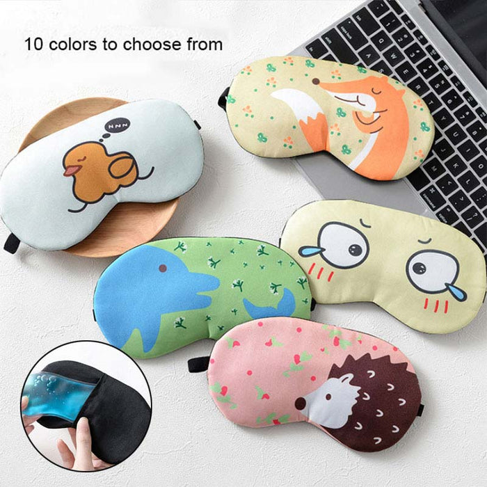 Summer Sleep Mask Eyepatch Rest Travel Relax Aid Blindfold Ice Cover Cute