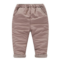 YiErYing  Baby Pants Autumn Winter Boys Girl Leisure Pants Cotton Pure Colour Warm Thicker Newborn Trousers