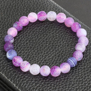 Buddha Prayer Jewelry Classic Natural Stone Purple Weathering Bracelets