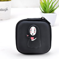 2018 New PU Spirited Away Cute Style Novelty Beautiful Gril Zipper Plush Square Coin Purse Kawaii Children Bag Women Mini Wallet