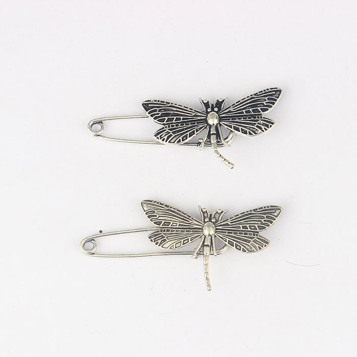 5 x Kilt Scarf Strong Metal Pin Large Safety Dragonfly Brooch Skirt Knitted 50mm Brooch Pins for Women