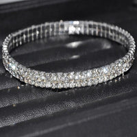 Women Sexy Clear Shining Crystal Rhinestone Gols/Silver Anklet Chain Ankle Bracelets Foot Wedding Jewelry