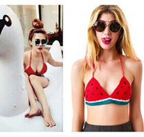 2018 New Women Crochet Watermelon Cute Knitted Crop Tops Bikini Top