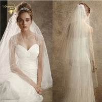 Layers Short Veil With Comb Wholesale Simple Cut Edge Veil Soft Tulle