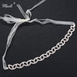 Rose Gold Bridal Headband Hair Jewelry Women Hair Chain