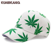 New Fashion Maple Leaf Baseball Cap Weed Snapback Hat Bone Men Women Summer Casual Cotton Printed Swag Hip Hop Fitted Cap Gorras