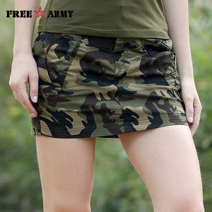Free Army Brand 2018 New Skirt Military Camouflage Design Women Skirts Casual Style
