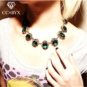 CC Vintage Necklace For Women Chokers Necklaces Pendants Hyperbole Clavicle