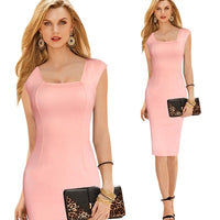 Casual Womens Work Dress  Summer Party Sexy Bodycon Sleeveless Work Office