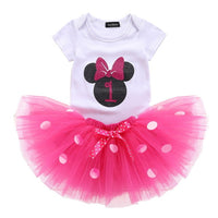 2 Years Baby Girl Dots Dress 1st Birthday Outfit Fancy Tutu Cake Smash Dresses Girl Infant Costume For Kids Party Clothes Girl