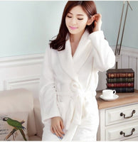 Couples Thickening Flannel Robe Lovers Male Or Female's Long-sleeve Autumn And Winter Sleepwear Lounge Coral Fleece Bathrobe