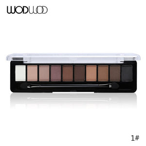 Wodwod Earth Color Eyeshadow Palette Glitter Eye Sombra Palette Brand Maquiagem Profissional Matte Makeup Pigment Eye Shadow