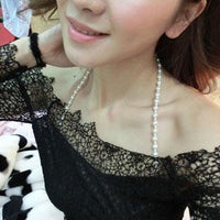 Top Imitation Pearls Invisible Bra Straps Dress Faux Bra Straps Single Row Clear Crystal Sex Chain for Bridal Wedding Prom