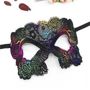 PF Sexy Eye Mask Lace Masks Upper Half Face Ball Mask for Women Girl Masquerade Halloween Carnival Party Catwomen Costume LM024