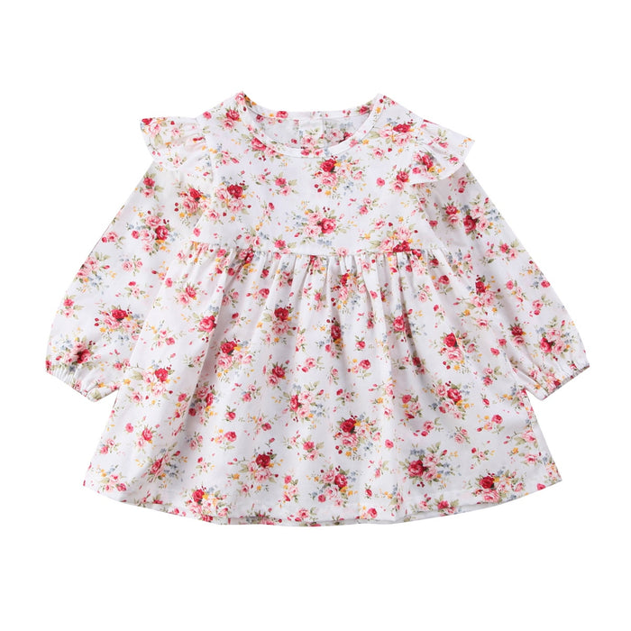 Princess baby girls clothes Newborn Toddler Baby Girls sweet Floral Dress Christmas baby Party Tutu Dresses