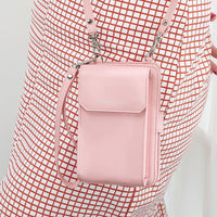 Fashion women  mobile phone bag 2017 new coin purse wallet women Messenger small bag vertical section Multifuncti mini chain bag