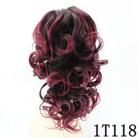 JOY&BEAUTY 12inch Curly High Temperature Fiber Synthetic Hair Pony Tail Hairpiece Clip In Hair Extensions Claw Ponytail 6 color