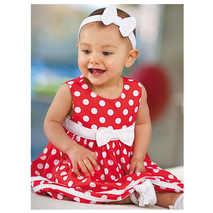 Summer Baby Dresses Cute Baby Girls Dress Party Wedding Toddler Infant Girl Dots Bowknot Tutu Dress +Shorts Set Red Clothes