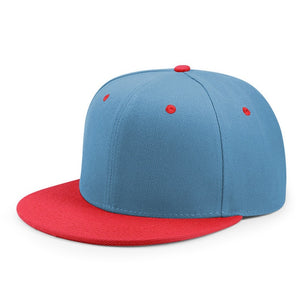 Wholesale Hip Hop Flat Peaked Cap Adult Solid Color Patched Baseball Hat Women and Men Logo Custom Plain Snapback Cap 33 Colos