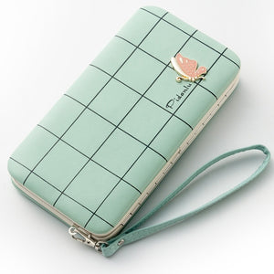 Fashion Long Hasp Wallet Female Phone Case Coin Pocket Card Holder