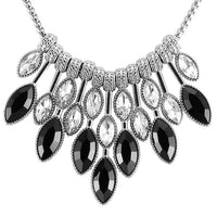 ZOSHI Brand Fashion women statement choker necklace silver plated chain