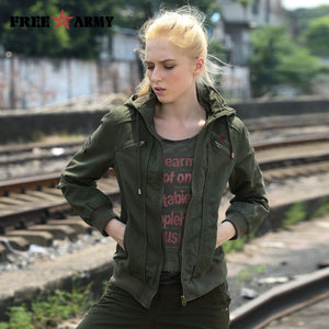 Brand Quality Hooded Women Jacket Spring Autumn Jackets Women Fashion Ladies