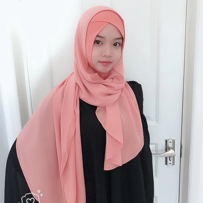 Muslim Hijab Scarf Underscarf Cross Full Cover Bonnet Cap Inner Hat Headscarf Abaya Turban Headgear Hooded Instant Arab Islamic