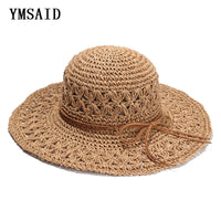 2018 Band New Women's Crochet Hollow Dome Summer Hats For Women mesh Straw