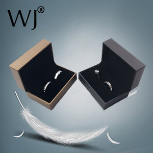 Quality Engagement Wedding Couple Ring Box Black Brown PU Leather Jewelry Rings Packaging Box Gift Box Earring Stud Storage Case