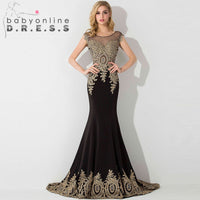 Sexy Sheer Lace Mermaid Long  Prom Dresses under 50 Elegant Royal Blue Evening Party Dresses Vestido de Festa Longo