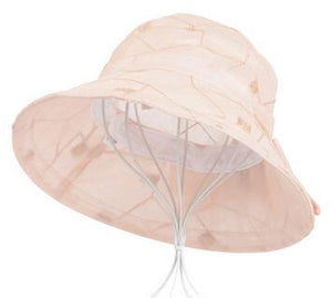 XdanqinX Women's Summer Hat Anti-UV Breathable Sun Hats For Women Fashion Beach Hat Wind Rope Fixed Bow Decoration Sunscreen Hat