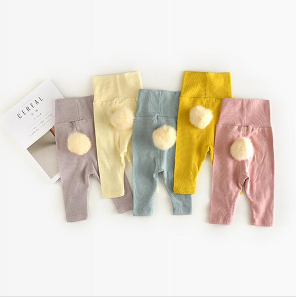 Infant Baby Trousers 5 Color Ruched Pants Ball Solid Lucky Child Clothing Kids Casual Clothes Spring Autumn
