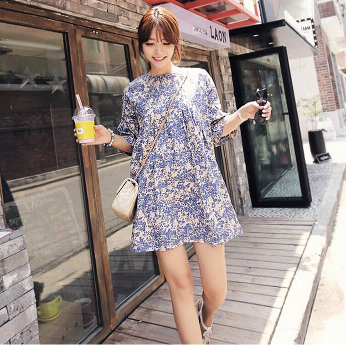 Maternity Half Sleeve  Blouse Dress Loose A-Line Maternity Tops and Blouses Summer Maternity Blouses Shirts High Quality