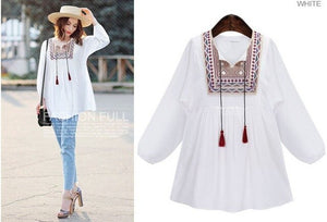 New Spring Maternity Floral Embroidery Loose Blouse Shirts 3 Colors Casual Shirt Tops clothes for pregnant women