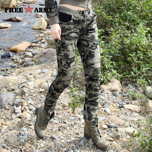 Brand New Spring Army Camouflage Pants Women Slim Pants Ladies Military Trousers