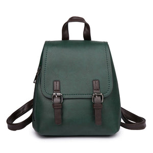Petrichor Brand Designer Women Backpack Soft Synthetic Leather Girl School Bag Female Shoulder Bag Purse Ladies Small Backpack