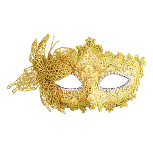 Hot saleSexy Women Lace Mask Venetian Masquerade Ball Party Carnival Face, Eye (yellow)