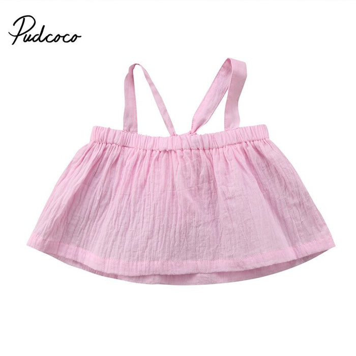 New Style Toddler Infant Newborn Baby Girls Clothes Sleeveless T-shirt Tops Blouse Shirts Cotton Clothes Outfits